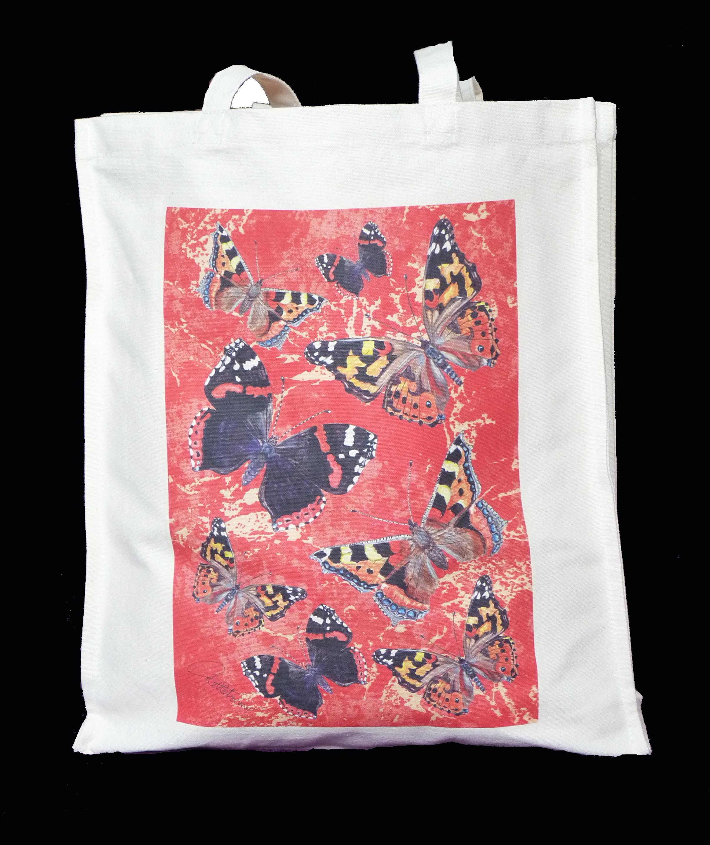 Shopper 'Scarlet Butterfly' Reverse