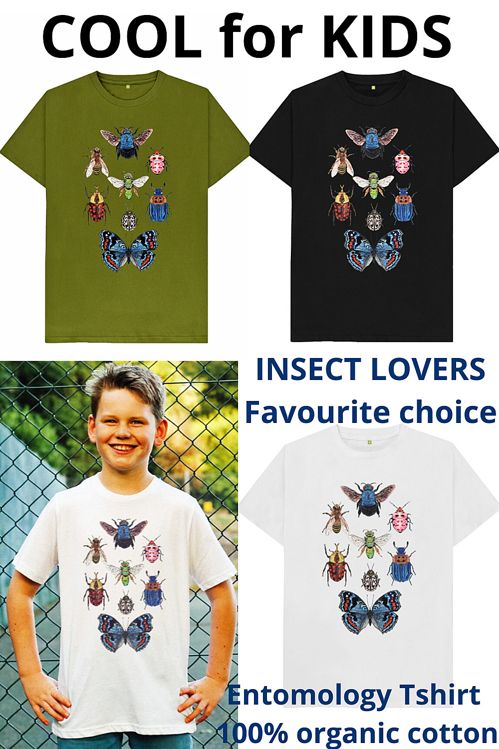 Clothing for Kids Insect T-Shirt