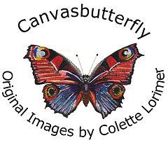 Canvasbutterfly logo Canvabutterfly motif Canvasbuttfly Emblem Butterfly Art Shop