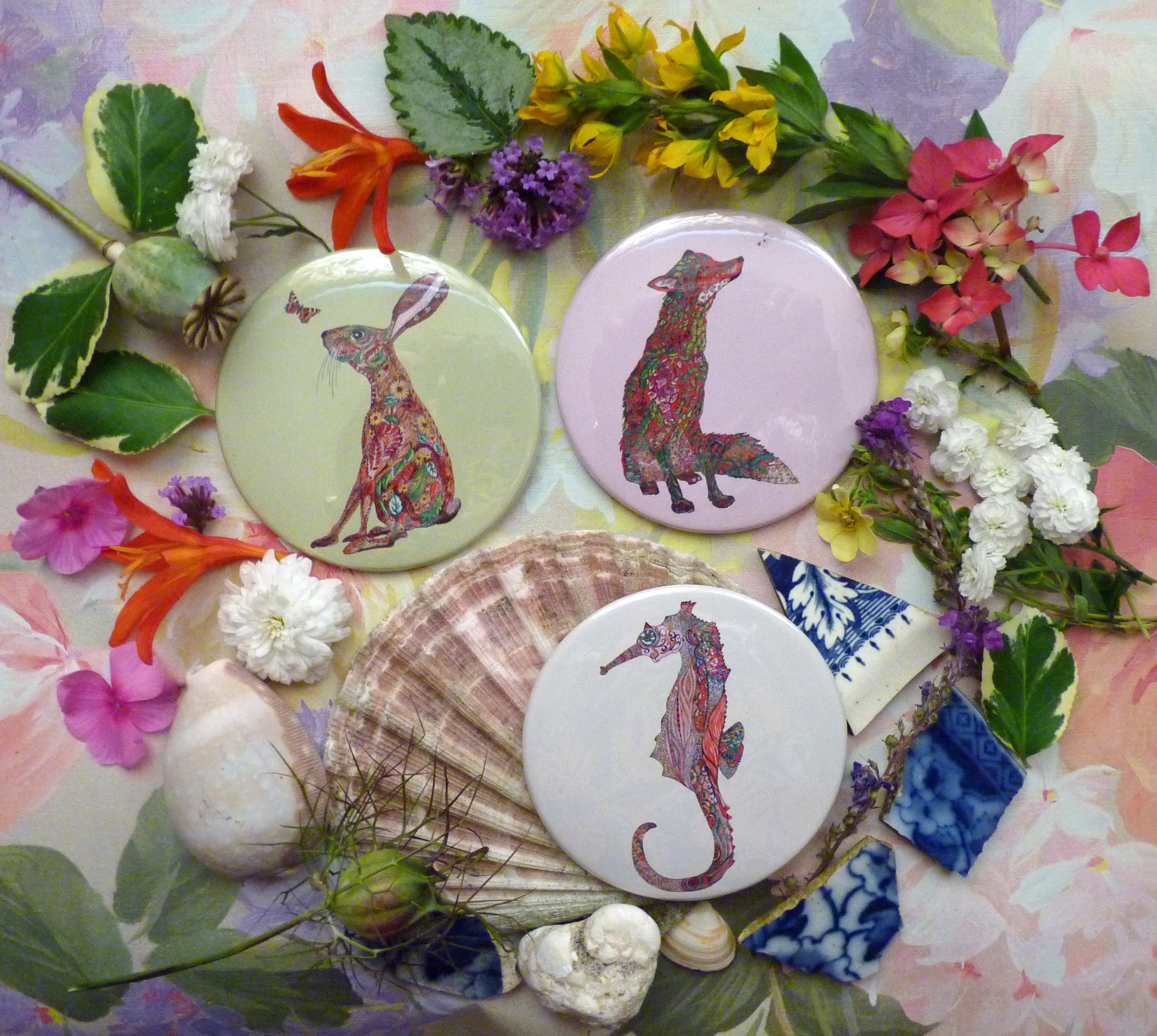 Mirrors Hare Fox Seahorse