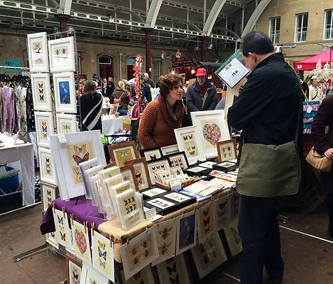 Canvasbutterfly Market Stall The Bath Artisan Market Butterfly Artwork for sale Dragonfly artwork for sale