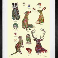 'Our Natural World' a children's wall art print