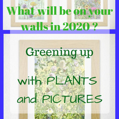 Greening up your home interior with plants and pictures