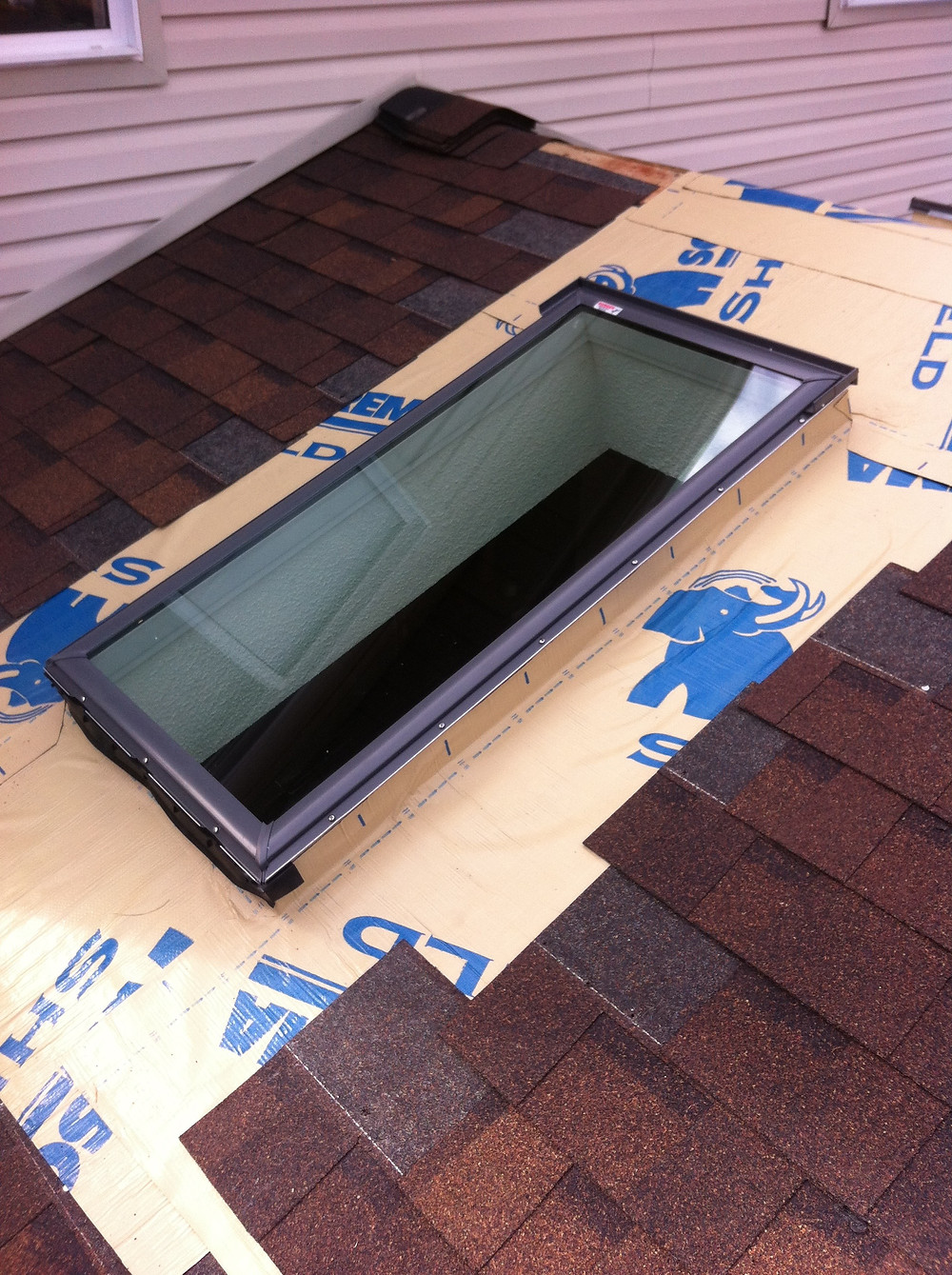 Ice and water membrane, Moore Skylights Inc.
