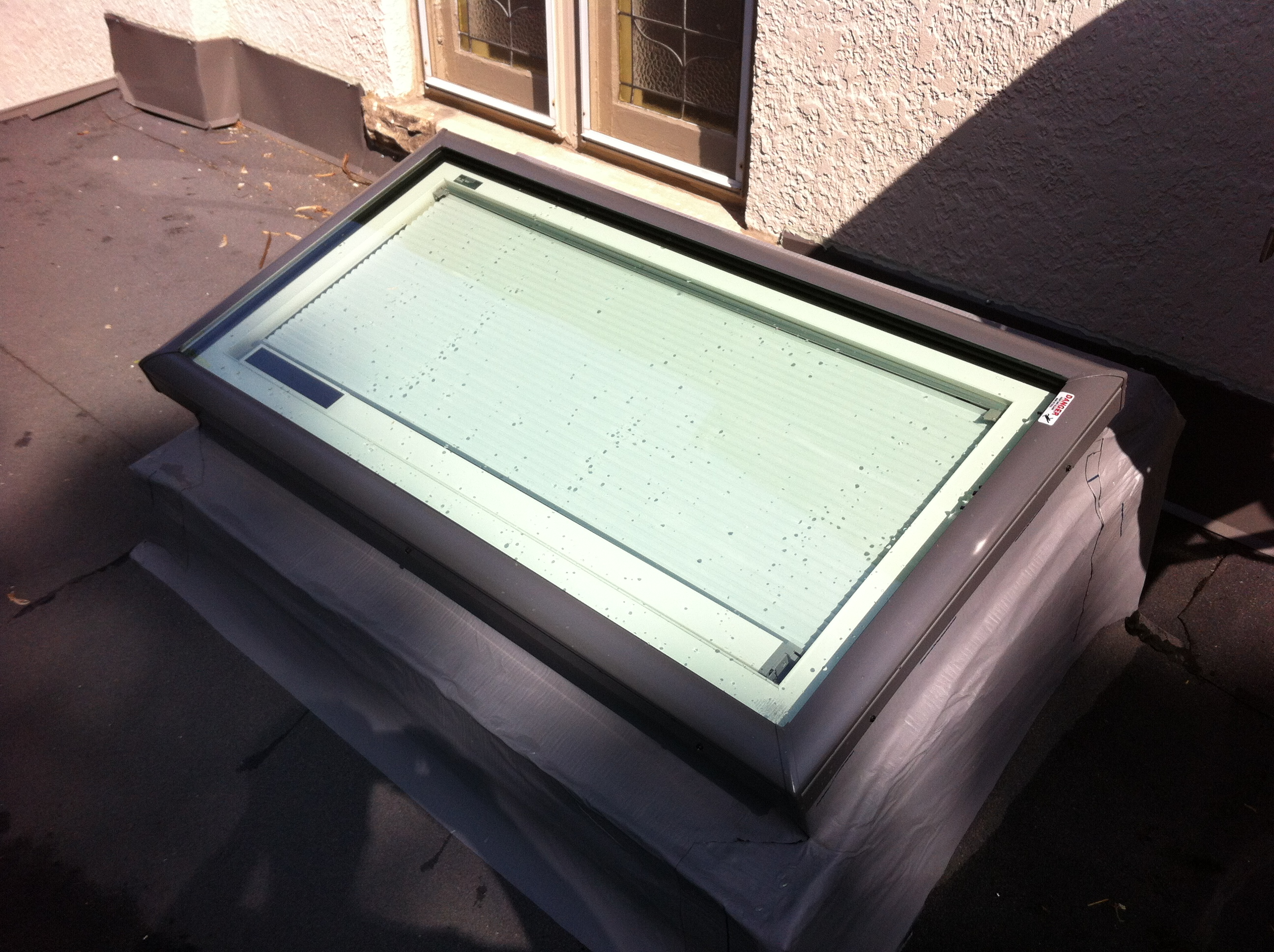 Sloped curb and Velux Solar Blinds