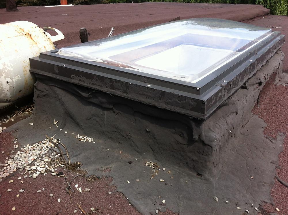 Too Much Tar, Tar on Skylight, Bad Installation, Propane Tank on Roof,