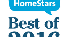 Moore Skylights Inc. Wins HomeStars Best of Award 2016 - Durham & Toronto Winner!
