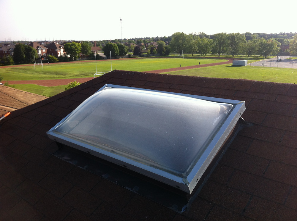 Old Plastic Dome Skylight