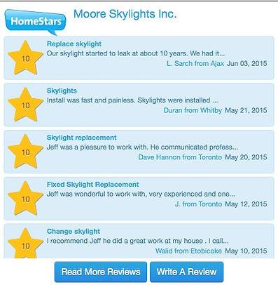 Moore Skylights Inc., Home Stars, Moore Skylights, Toronto Skylights,