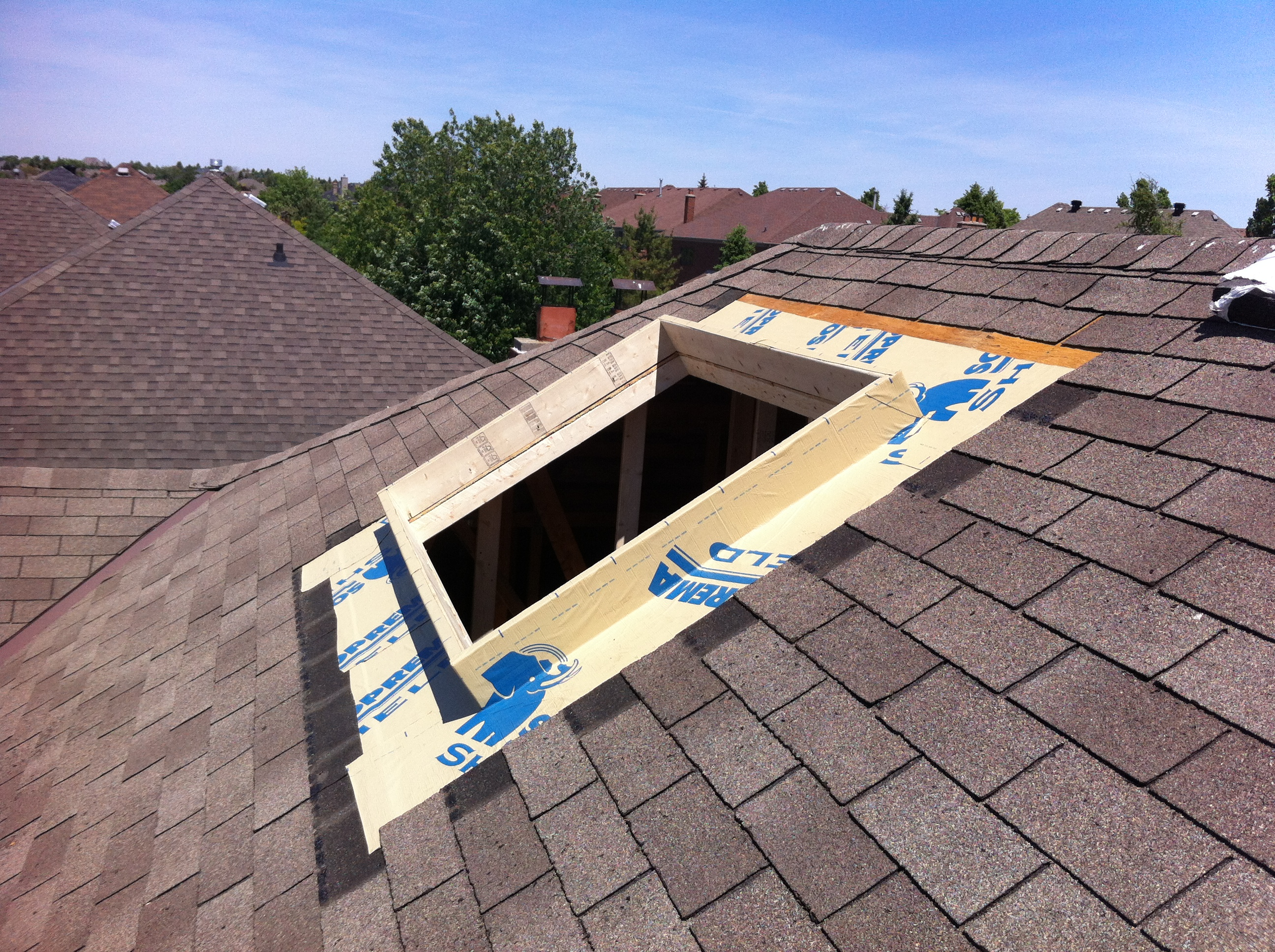 Custom Skylight with Membrane
