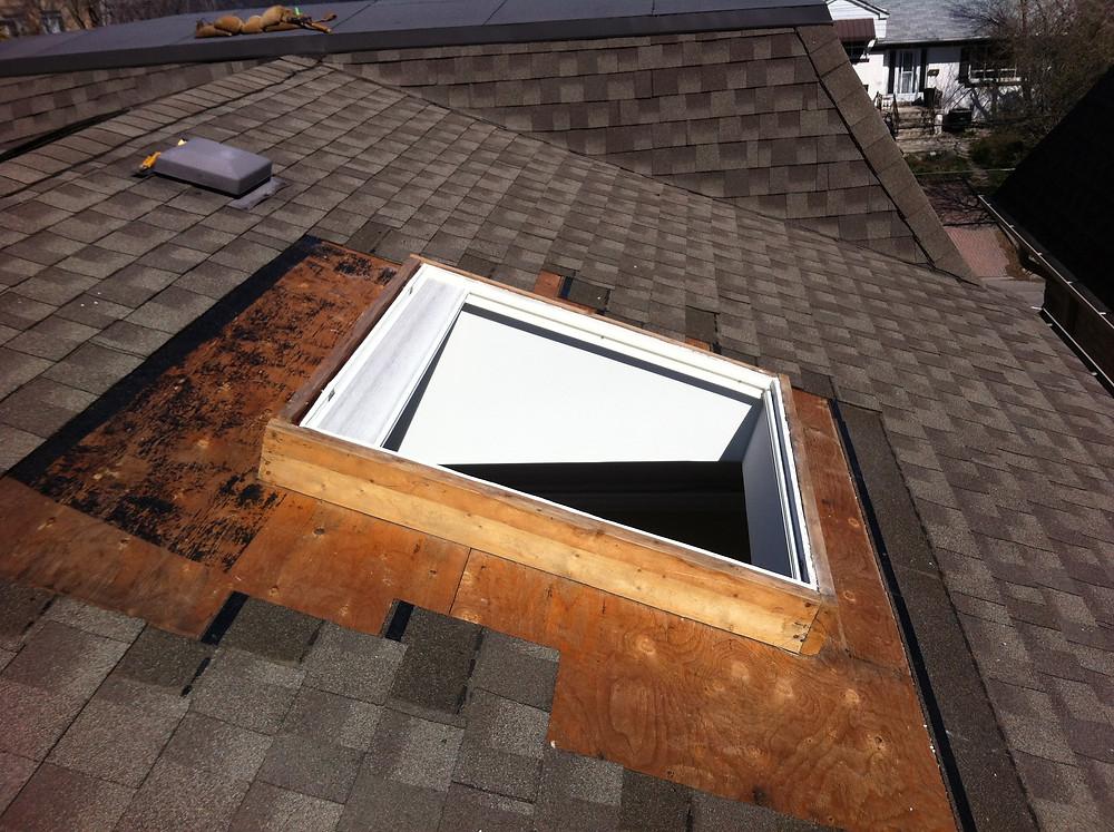 2x6 curb, Moore Skylights Inc., Toronto Skylight Replacement