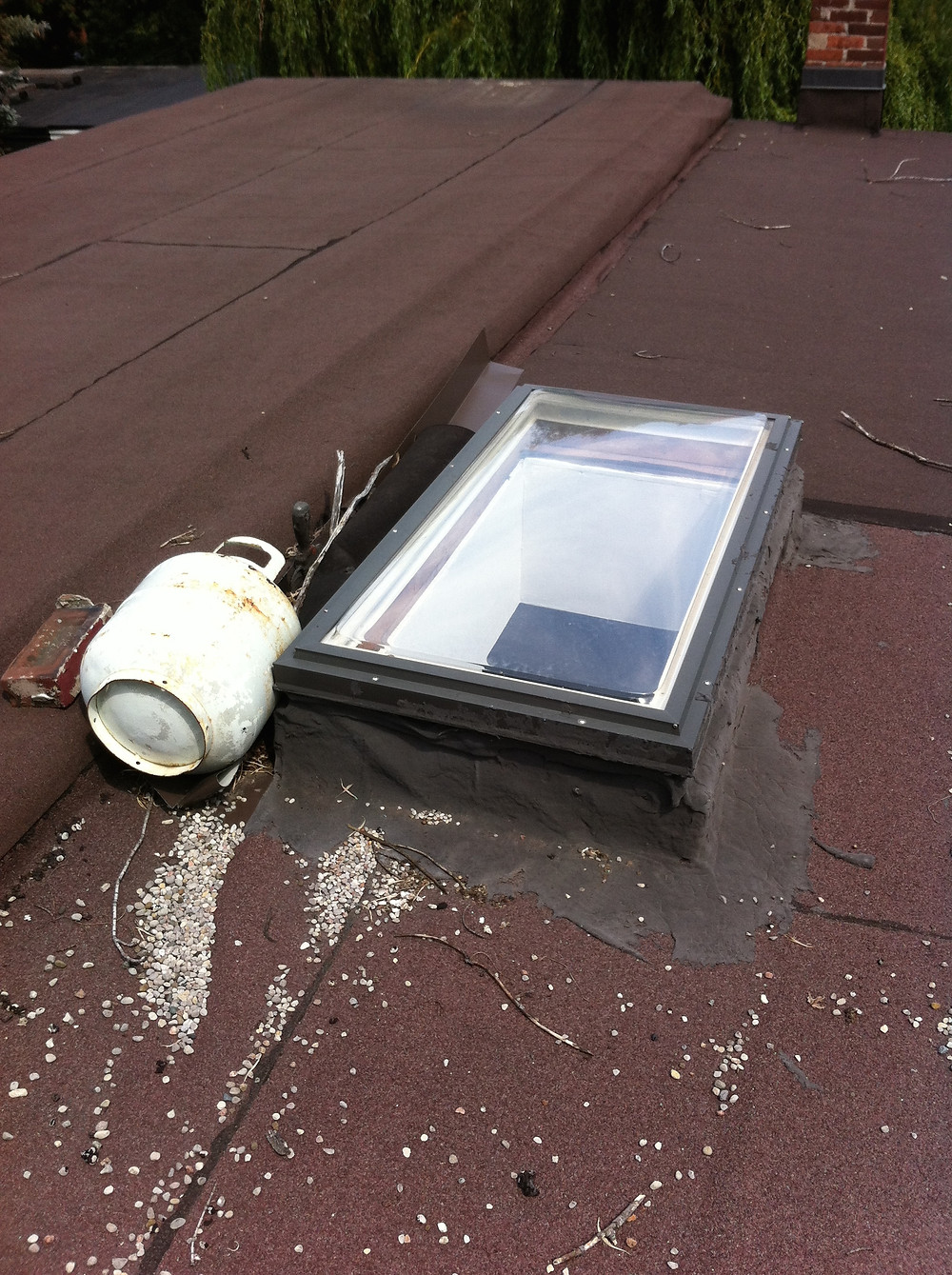 Propane Tank On Roof, Poor Installation, Bad Roofers, Why you need Moore Skylights