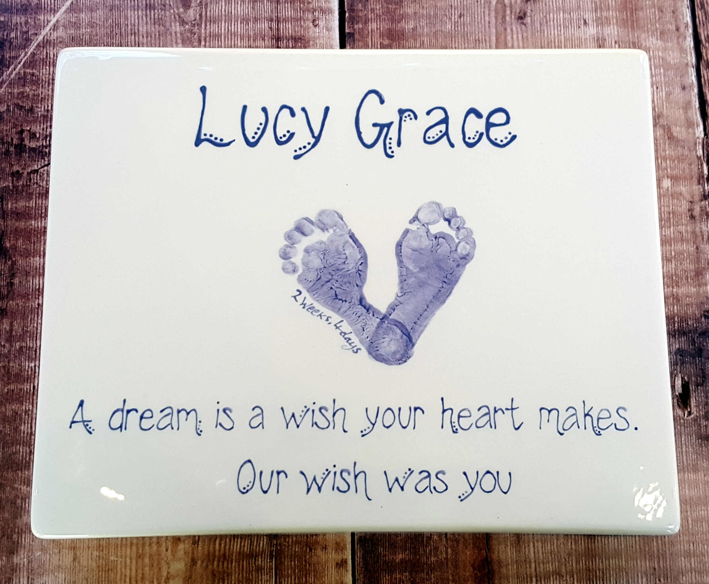Ceramic Canvas - Lucy Grace - a Dream is a wish 2