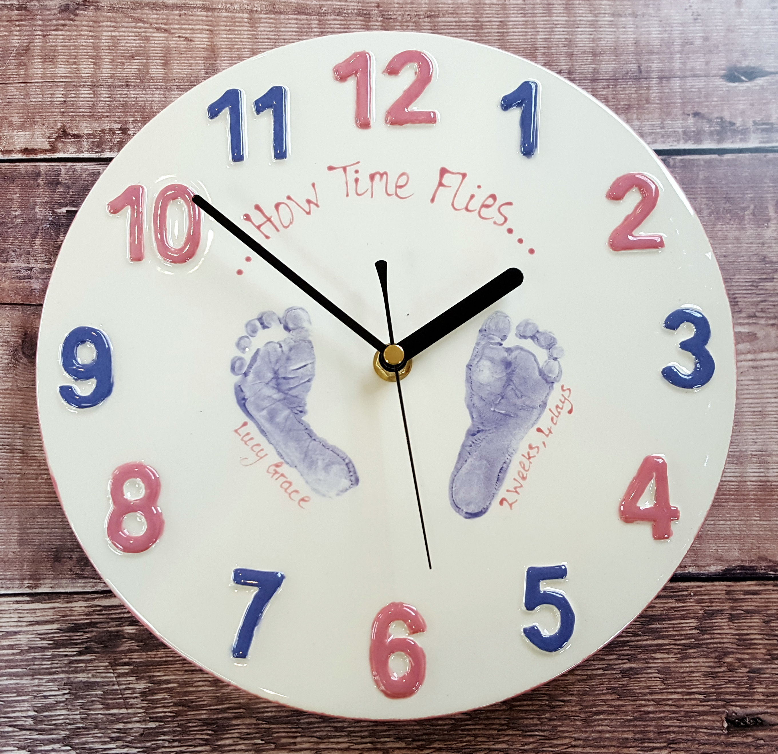 How Time Flies - Clock - Lucy Grace