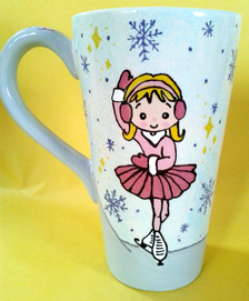 Tall Cone Mug - Ice Skater - Commission.