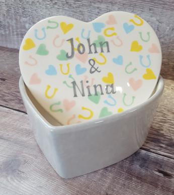Heart Tinket Box - Wedding - Confetti -
