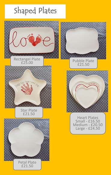 Plates - Heart Bubble Star Rectangle Pet