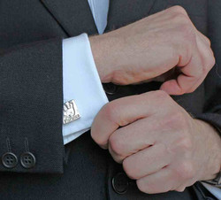 Square Cufflinks with Dad
