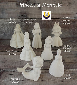 Takeaway Pottery - Princesses - Belle Br