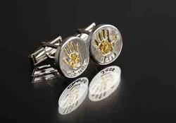 Round Cufflinks -Gold prints