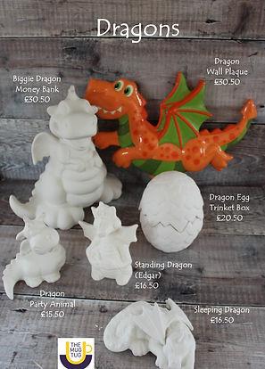 Takeaway Pottery - Dragons- Biggie Wall