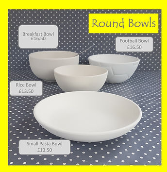 Round Bowls - Breakfast Rice Football Sm