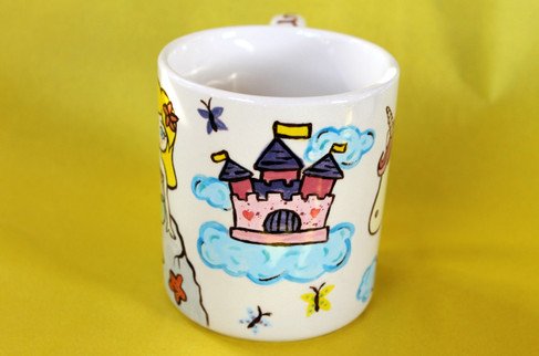 Mug - Unicorn Castle with Butterflies an