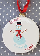 Flat Bauble Christmas Character Snowman