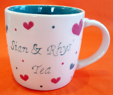 Sian and Rhys Tea - Mug - Commission - S