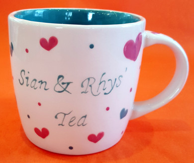 Sian and Rhys Tea - Mug - Commission - S