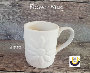 Takeaway Pottery - Mugs - Flower - June