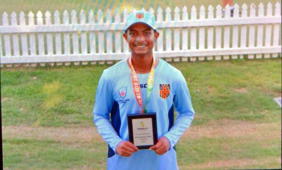 Niv selected in Australian U16 side