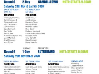 Teams announced 28th November