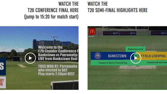 Videos of T20 matches available