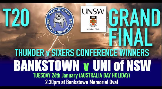 T20 COnference final - Bankstown v Parramatta