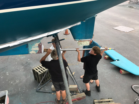 Removing the rudder