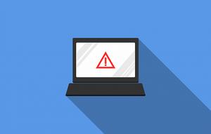 alert symbol on computer