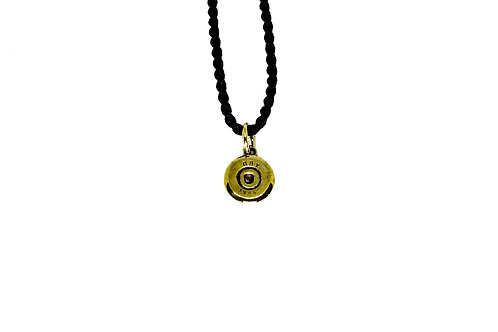 Large recycled bullet pendant for men