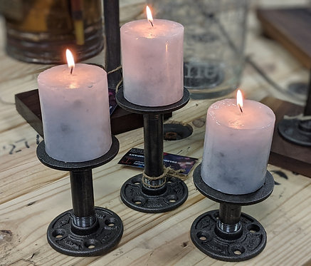 3 PIECE CANDLE HOLDER