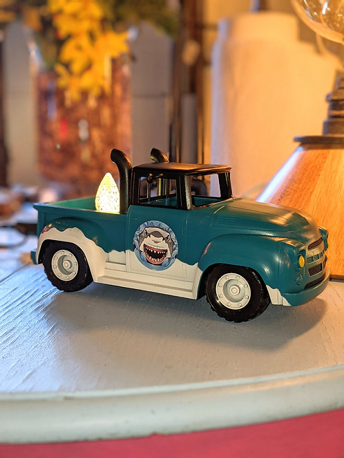 Blue Truck with LED bulb
