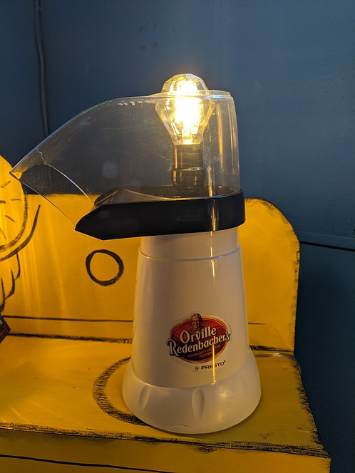 UP-CYCLED Popcorn Popper Lamp