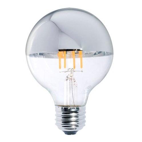 5W LED G25 2700K FILAMENT HALF MIRROR E26 120V FULLY COMPATIBLE DIMMING