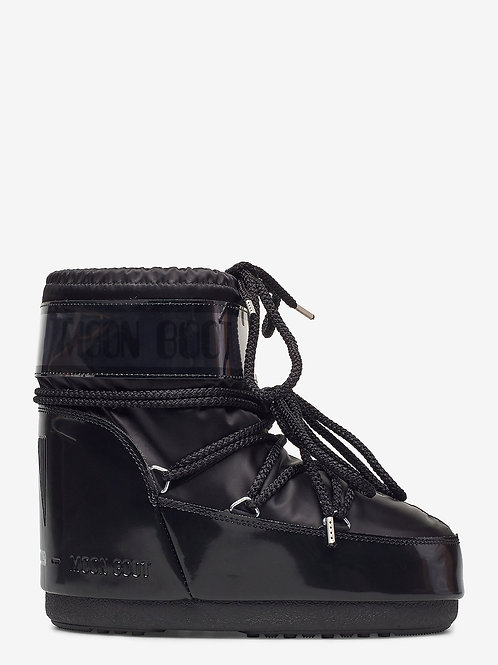 MOON BOOTS CLASSIC LOW GLANCE BLACK