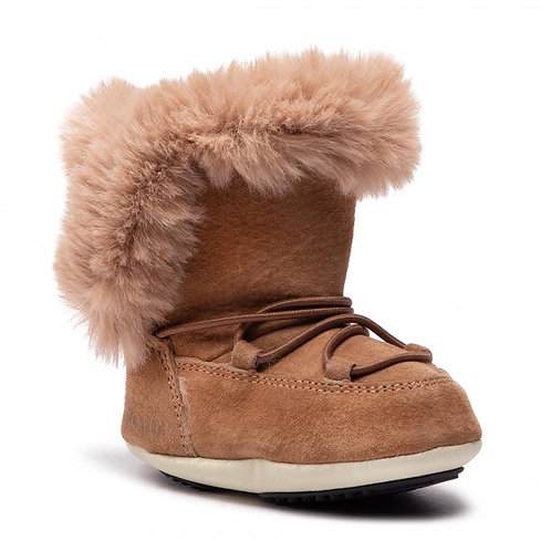 MOON BOOTS KIDS CRIB SUEDE WHISKY