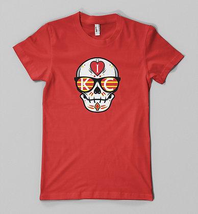 I heart KC sugar skull