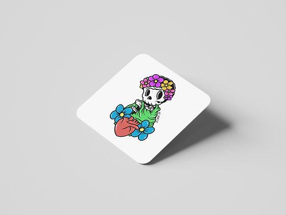Skully Tile Coasters