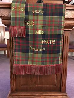 Tartan displayed during homecoming
