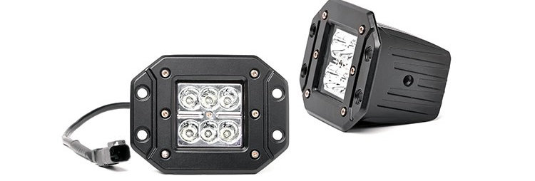 2-INCH SQUARE FLUSH MOUNT CREE LED LIGHTS - (PAIR | CHROME SERIES)