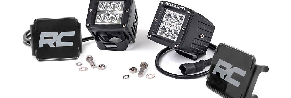 2-INCH SQUARE CREE LED LIGHTS - (PAIR | CHROME SERIES)