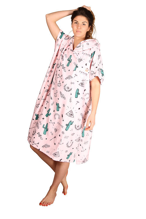 PONCHO PEIGNOIR NATATION - HYPE PALE PINK